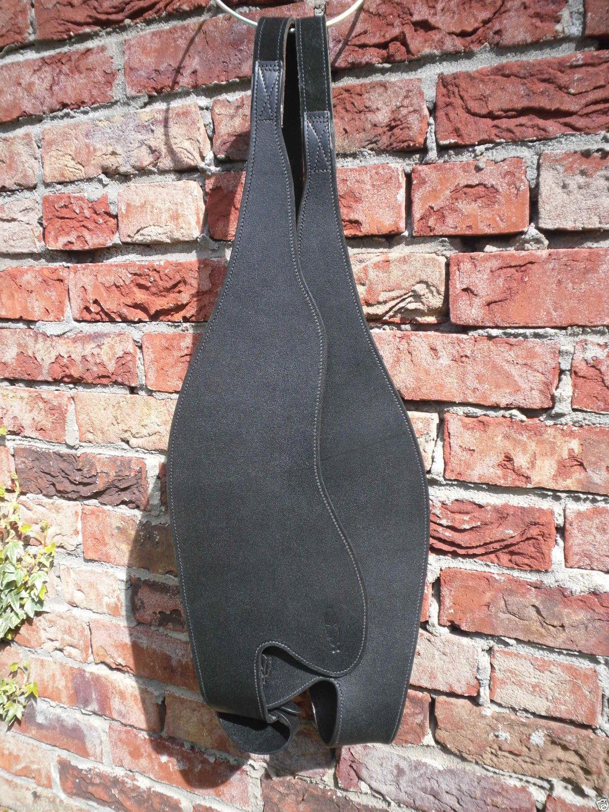 Western Fender schmal in schwarz von Barefoot für Westernsattel oder Fellsattel