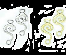 Shanks für gebisslose Zäumung in messing oder silber