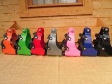 Distanzsteigbügel Distanzbügel Steigbügel mit Korb verschiedene Farben
