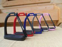 Sicherheitssteigbügel Steigbügel mit seitlichem Gummiring verschiedene Farben