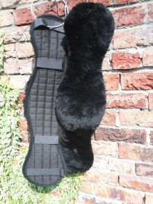 Gurtschoner Lammfell mit Klett für Deuber Gurt Gr.1 2 3 4 schwarz schwarz