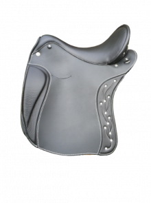 Impuls Brilliant S2 17,5 Zoll Leder schwarz Beschlag silber Deuber & Partner Sattel B48352
