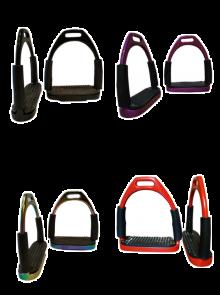 """für Kinder 4,25"""" Steigbügel Gelenkbügel Sicherheitssteigbügel verschiedene Farben"""