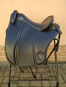 Ibero Verano GL S2 Deuber & Partner Sattel Leder schwarz Beschlag silber B50603