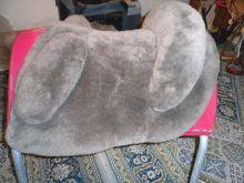 Austauschsitz Sitz für Mattes Lammfellsattel  Kleinpferd  Farbe Taupe Gr. S   UVP 439 Euro