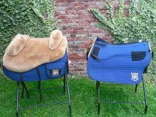 Mattes Lammfellsattel Wanderreit  Decke Sitzgrösse S M L oder XL Großpferd